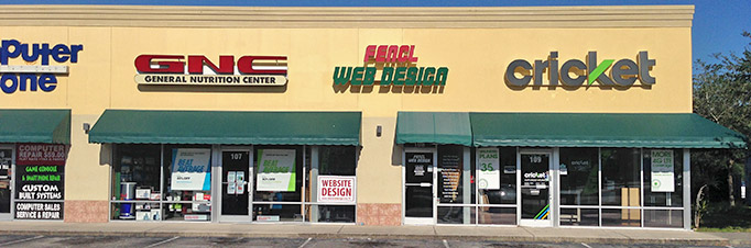 Store Front of Fencl Web Design Melbourne, FL