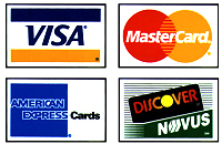 Accept Visa, MasterCard, American Express, and Discover